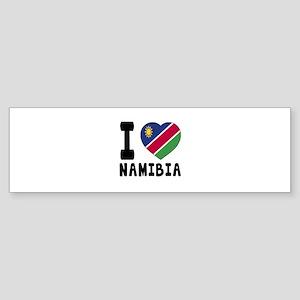 I Love Namibia Sticker (Bumper)