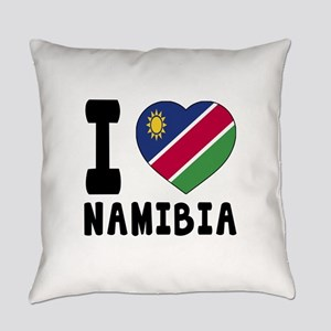 I Love Namibia Everyday Pillow