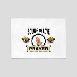 sounds of love prayer 5'x7'Area Rug