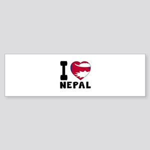 I Love Nepal Sticker (Bumper)