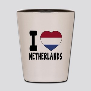 I Love Netherlands Shot Glass