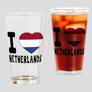 I Love Netherlands Drinking Glass