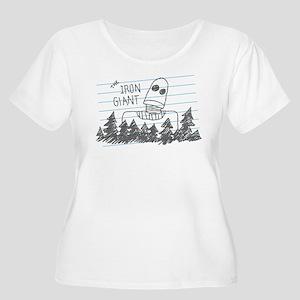 Iron Giant Doodle Plus Size T-Shirt