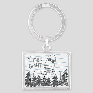 Iron Giant Doodle Keychains