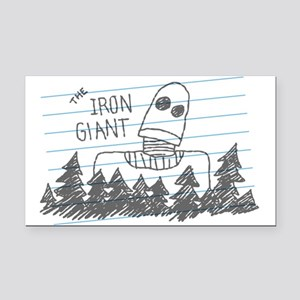 Iron Giant Doodle Rectangle Car Magnet