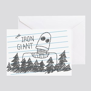 Iron Giant Doodle Greeting Cards