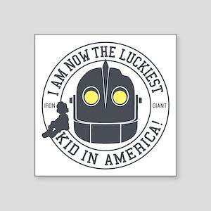 Iron Giant Luckiest Kid Hogarth Sticker