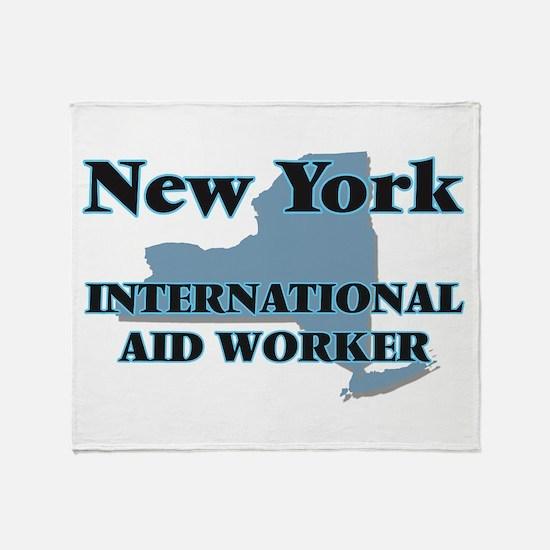 New York International Aid Worker Throw Blanket