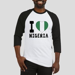 I Love Nigeria Baseball Jersey