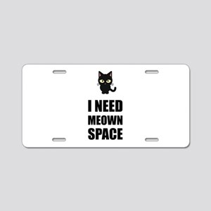 Need Meown Space Cat Aluminum License Plate