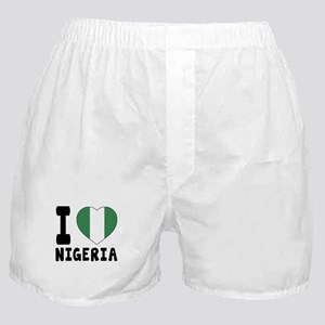 I Love Nigeria Boxer Shorts