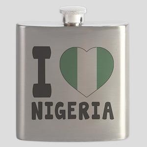 I Love Nigeria Flask