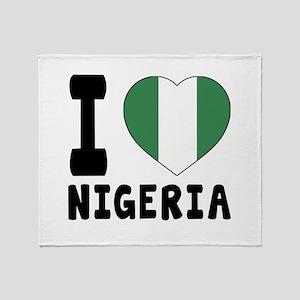I Love Nigeria Throw Blanket