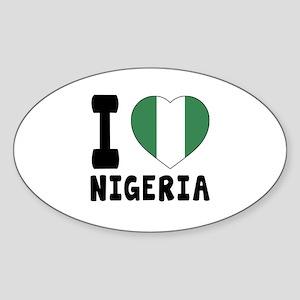 I Love Nigeria Sticker (Oval)