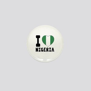 I Love Nigeria Mini Button