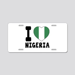 I Love Nigeria Aluminum License Plate
