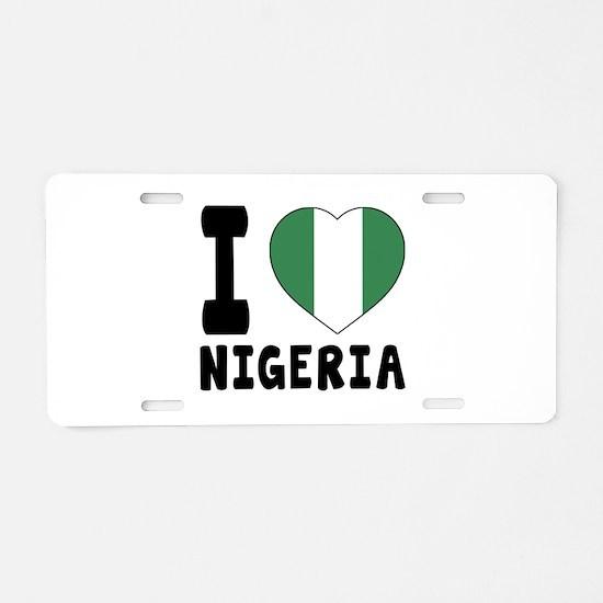 I Love Nigeria Aluminum License Plate