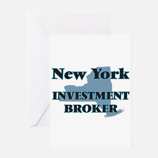 New York Investment Broker Greeting Cards