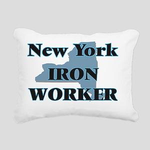 New York Iron Worker Rectangular Canvas Pillow
