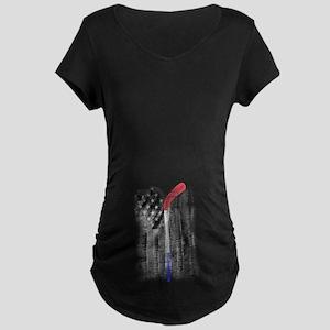 love hockey Maternity Dark T-Shirt