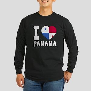 I Love Panama Long Sleeve Dark T-Shirt
