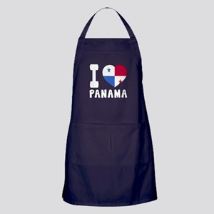 I Love Panama Apron (dark)