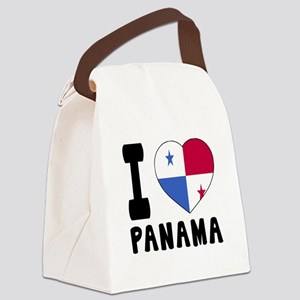I Love Panama Canvas Lunch Bag