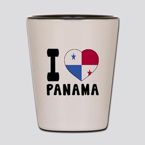 I Love Panama Shot Glass