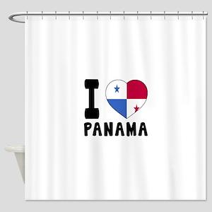 I Love Panama Shower Curtain
