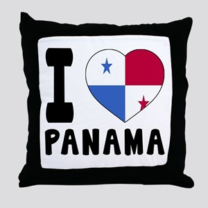 I Love Panama Throw Pillow