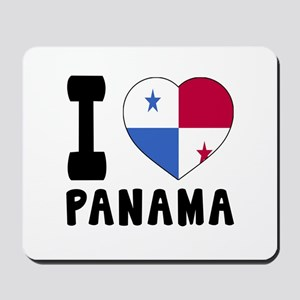 I Love Panama Mousepad