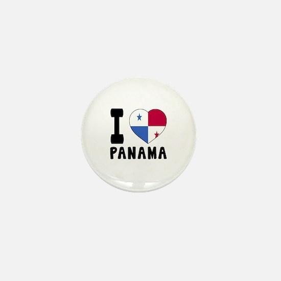 I Love Panama Mini Button