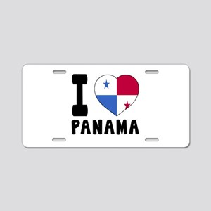 I Love Panama Aluminum License Plate