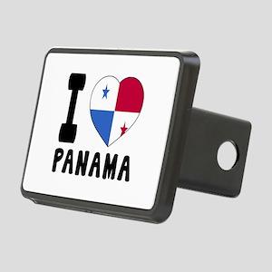 I Love Panama Rectangular Hitch Cover
