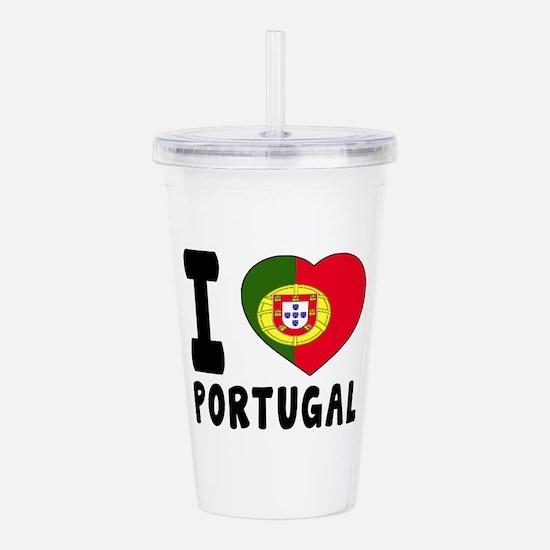 I Love Portugal Acrylic Double-wall Tumbler