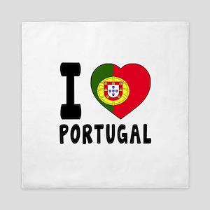 I Love Portugal Queen Duvet