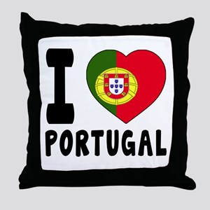 I Love Portugal Throw Pillow