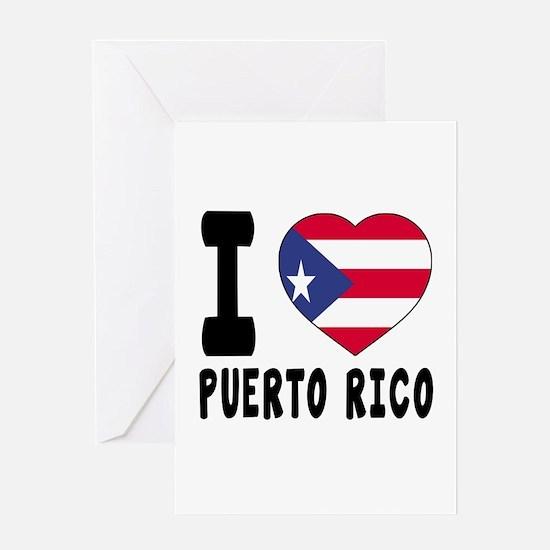 I Love PUERTO RICO Greeting Card
