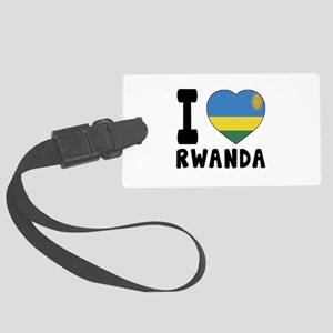 I Love Rwanda Large Luggage Tag