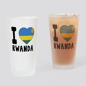 I Love Rwanda Drinking Glass