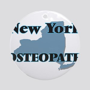 New York Osteopath Round Ornament