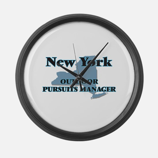 New York Outdoor Pursuits Manager Large Wall Clock