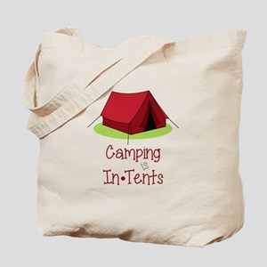 Camping In Tents Tote Bag