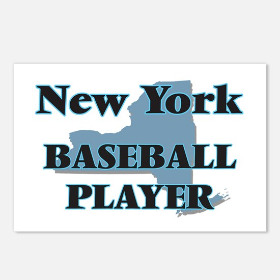 New York Baseball Player Postcards (Package of 8)