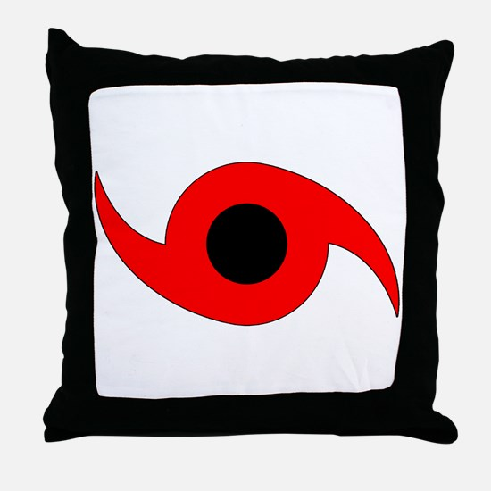 Horizontal Hurricane Symbol Throw Pillow