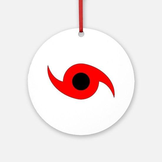 Horizontal Hurricane Symbol Ornament (Round)