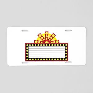 Broadway Sign Aluminum License Plate