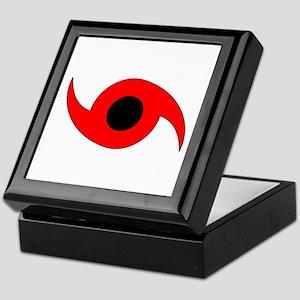 Horizontal Hurricane Symbol Keepsake Box