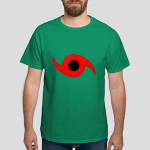 Horizontal Hurricane Symbol Dark T-Shirt
