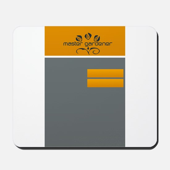 Master Gardener Garden Hobby Orange Grey Mousepad